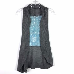 Knitted & Knotted Anthropologie Crochet Vest #1850